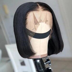 Image 4 - Парики для женщин, фронтальные, с прямыми натуральными волосами, 13 х4