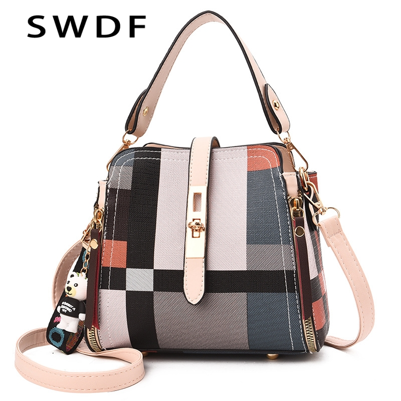 Luxury Handbags Women Bags Designer Small Shoulder Bag Fashion Plaid PU Leather Crossbody Bags For Women Messenger Bags