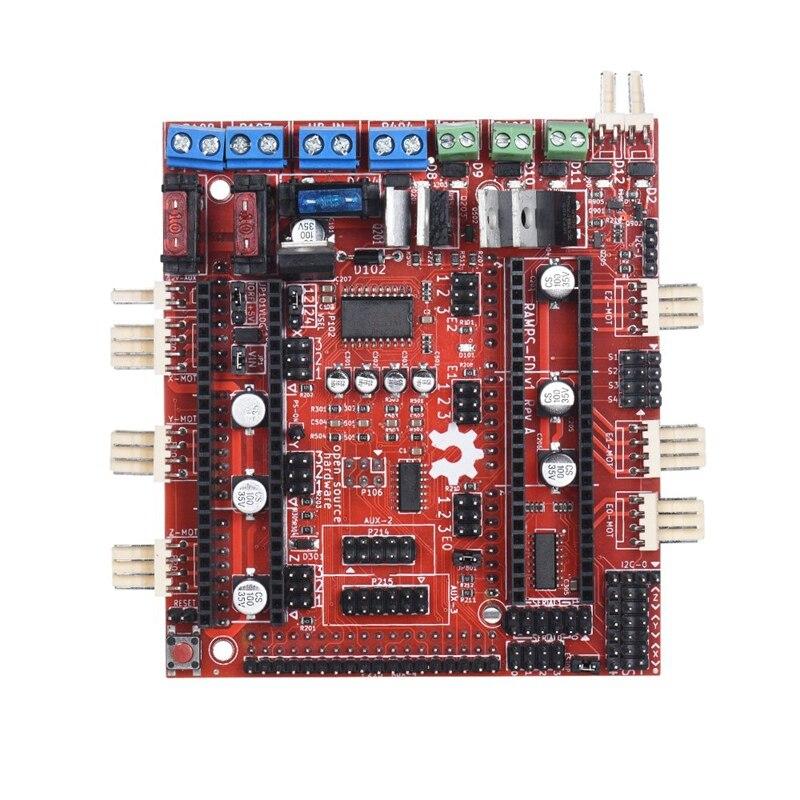 Carte contrôleur, 3D imprimante carte mère Reprap rampes-Fd Shield rampes 1.4 carte de contrôle Compatible pour Arduino Due 3D imprimante Co