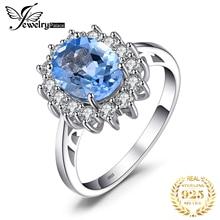 JPalace Công Nương Diana Chính Hãng Blue Topaz Nhẫn Nữ Bạc 925 Cho Nữ, Nhẫn Nữ Đính Đá Silver Bạc 925 Đá Quý Trang Sức