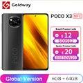 Глобальная версия POCO X3 NFC 6 ГБ ОЗУ 64 Гб / 128 Гб ПЗУ Мобильный телефон Snapdragon 732G 64 Мп Четыре камеры 6,67