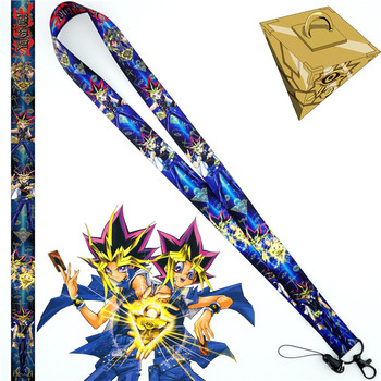 Anime Yu-Gi-Oh! Yugi Muto Neck Strap Lanyard Mobile Phone Strap ID Badge Holder Rope Key Chain Key rings cosplay Accessories New image