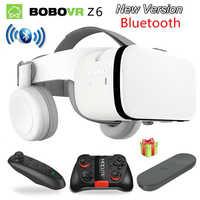 2019 Mais Novo Bobovr Z6 Casque Capacete 3D VR Óculos De Realidade Virtual De Fone de Ouvido Bluetooth Fone de Ouvido Para Smartphone Google Papelão