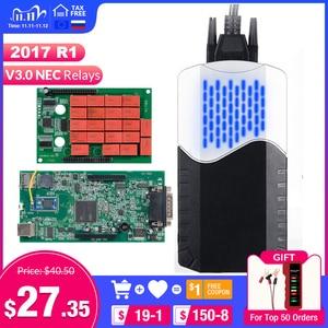 Image 1 - CDP TCS 2017.R1 multidiag pro + Bluetooth USB 2016,00 keygen V3.0 NEC relés obd2 escáner coches camiones OBDII herramienta de diagnóstico