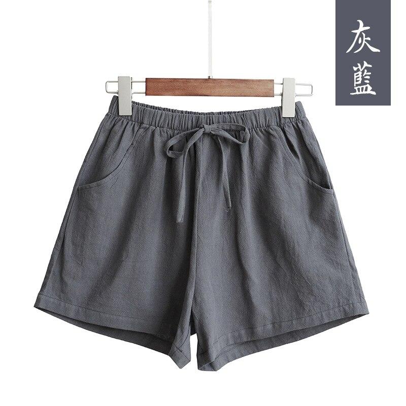 New Hot Summer Casual Cotton Linen Shorts Women Plus Size High Waist Shorts Fashion Short Pants  Streetwear Women's Shorts 13