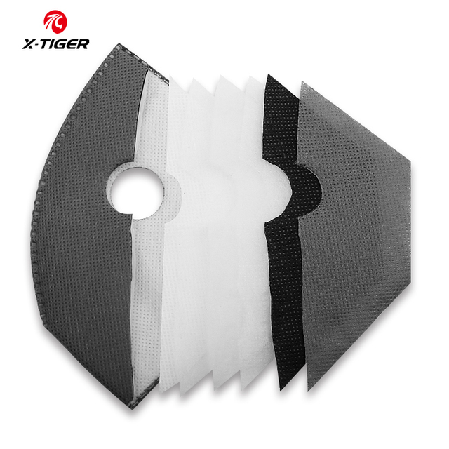 X-TIGER Cycling Mask Filter PM2.5 Dustproof Replacement With Actived Carbon Filters Protect Face Mask Filter 1