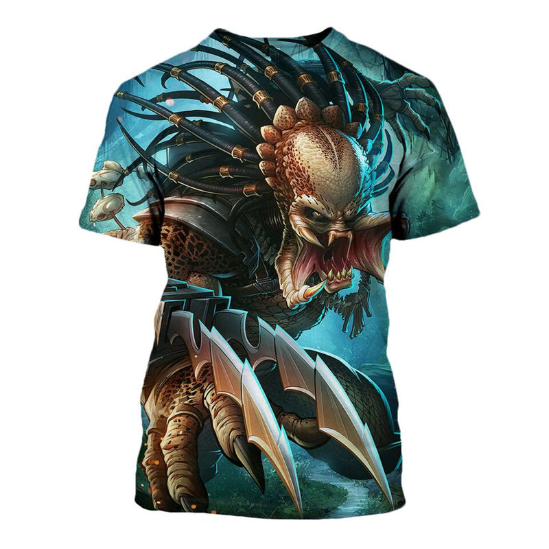 New 2019 Customize Tees Halloween Horror Predator 3D Printed Men's Tops Unique Clothing Short Sleeve T Shirt Drop Shipping