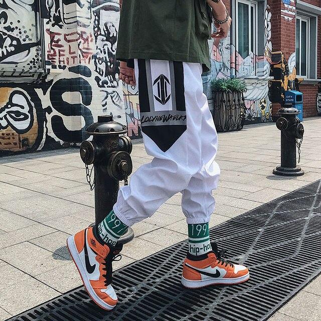 Streetwear Hip hop Joggers Pants Men Loose Harem Pants Ankle Length Trousers Sport Casual Sweatpants White Techwear 5