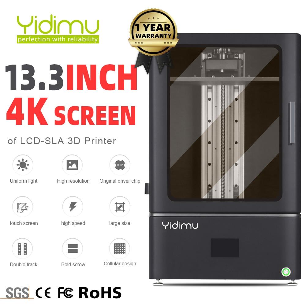 Монохромный Большой 3D-принтер YIDIMU SLA/LCD/DLP 13,3 4K, лазерный 3D принтер с УФ светильник светом, шариковый винт
