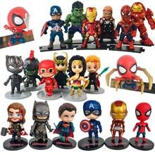 Avengers 4 Marvel Spider Man Batman Thanos Iron Man Captain America Hulk Thor Panther Action Figure Kids Toys B667 цена