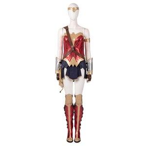 Image 4 - ManLuYunXiao Wonder Woman Cosplay Diana prens DC Superhero takım elbise kadınlar için cadılar bayramı kostüm Masquerade kıyafet Custom Made