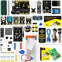 Keyestudio Super uczenia startowy zestaw do Arduino Starter dla UNOR3 projektów W pudełko + 32 projekty + instrukcja obsługi + PDF(on line) tanie tanio Nowy Napęd ic KS0078 Elektryczne zabawki 0-50 100TQFP