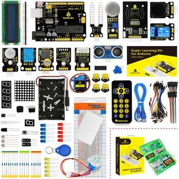 Kit de iniciación de aprendizaje Super de KeyStudio para iniciadores Arduino para proyectos UNOR3 con caja de regalo, 32 proyectos, Manual de usuario y PDF (en línea)