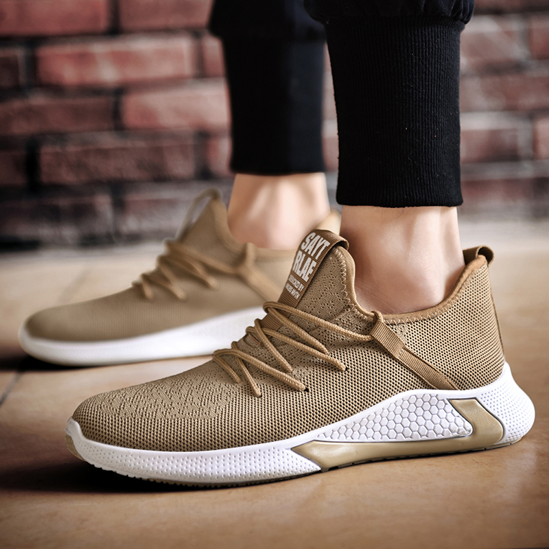 KAMUCC 2020 New Men Shoes Breathable Men Sneakers Zapatillas Hombre Flyknit High Quality Men Casual Shoes Size 39-44