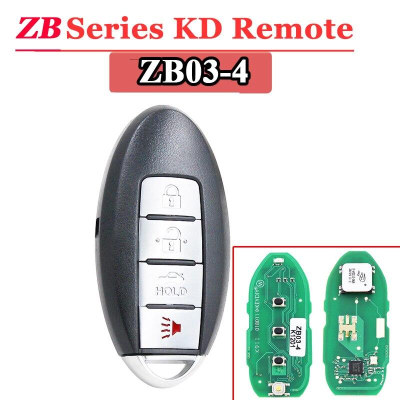 Free Shipping (1 Pcs)KEYDIY 3+1button ZB03 Smart Key Keyless Go ZB Series KD Remote Key For KD900 URG200 KD-X2