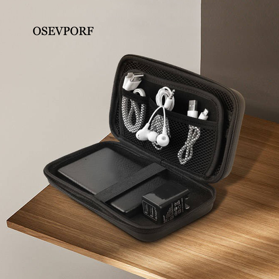 Power Bank Case Hard Case Box For Hard Drive Disk USB Cable External Storage Carrying SSD HDD Earphones USB Cable Charger Cases