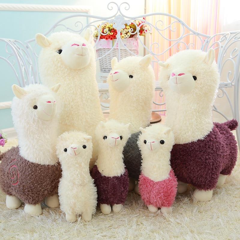 28-65cm Lovely Alpacas Plush Doll Toy Cute Alpaca Soft Plush Alpacasso Lama Sleeping Pillow Stuffed Animal Toys Kawaii Kid Gift
