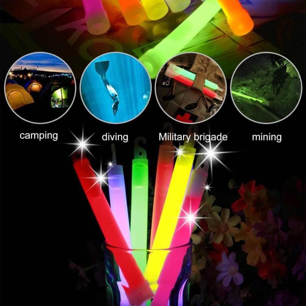6 インチグローイング化学グロースティックライトスティック屋外キャンプ緊急ライトパーティークリスマス装飾 est