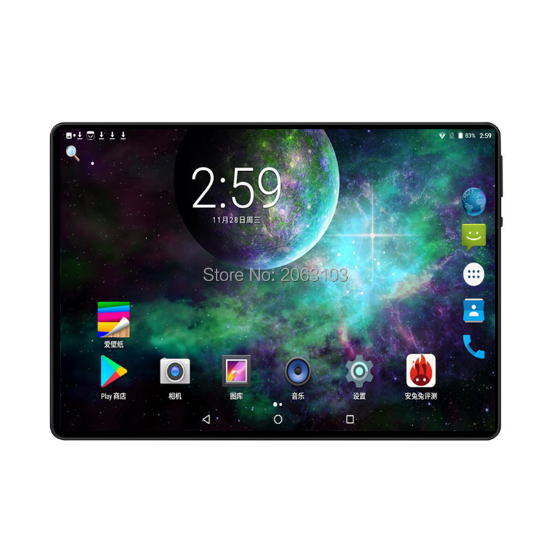 New 10 Inch Octa Core 3G/4G Tablet Pc 6GB RAM 128GB ROM 1920*1200 Dual Cameras Android 9.0 Tablets 10.1 Inch Free Shipping