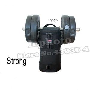 Image 3 - Kalın güçlü naylon yastıklı kamera su geçirmez Lens çantası çantası koruyun kılıf kemer Canon Nikon SONY için Sigma lensler