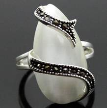 Jewelry Pearl Ring noble 24*13mm RARE WHITE OPAL STERLING SILVER 925 BALI HANDCRAFTED RING SIZE 7/8/9/10 Free Shipping(China)