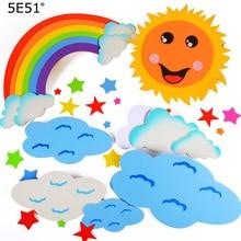 Творческий DIY Пена Радуга облако солнце для детей обучения обучающая игрушка Настенный декор