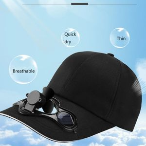 Adult Kid Summer Solar Panel Powered Cooling Fan Baseball Cap Outdoor Sport Camping Hiking Snapback Peaked Sun Visor Hat