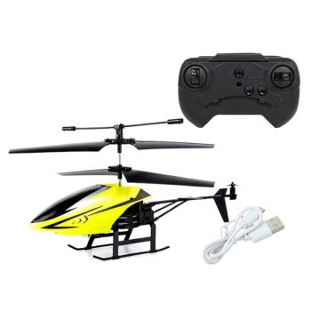 2 Channel Mini USB RC Helicopter Remote Control Aircraft Drone Model with Light for Kids Adults Toys 2
