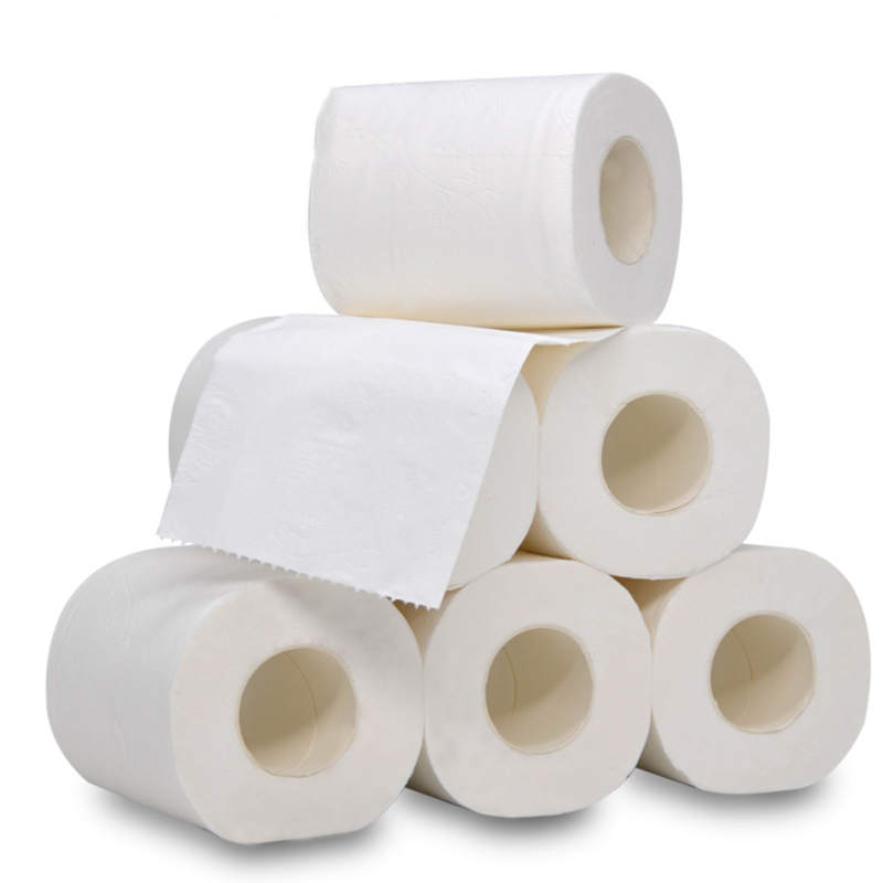 Home Bath Paper Bath Toilet Roll Paper 1 Pack 4Ply Paper Towels TissueToilet Paper White Toilet Rolling Paper Toilet Roll Tissue
