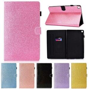 "Image 1 - กรณีสำหรับ Huawei MediaPad T3 10 9.6 ""AGS L09 W09 หนัง bling Glitter กรณี Honor Play pad 2 9.6 นิ้ว"
