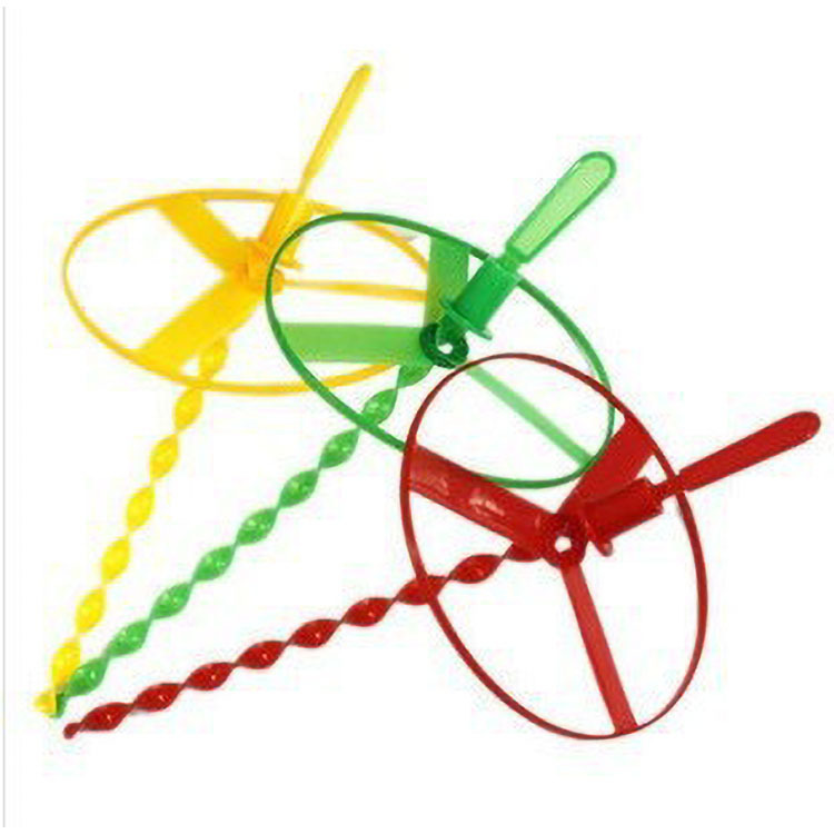 Flying Fairy Hand Push UFO Educational CHILDREN'S Toy Plastic Bamboo Dragonfly Stall Hot Selling Toy Wholesale