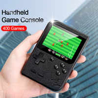 New 3.0 inch Handheld Game Console 400 Games Mini Retro Tetris Game Player Support Connect TV Lightweight Plastic Headheld Game