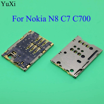 YuXi Sim Card Reader Holder Tray Slot Socket Connector Replacement For Nokia N8 C7 C700 replacement bateria bl 5k battery for nokia c7 n85 n86 n87 x7 00 c7 00 c7 x7 battery 5k bl5k