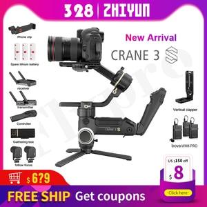 Image 1 - ZHIYUN oficjalny żuraw 3S E/Crane 3S 3 osiowy aparat DSLR stabilizator ręczny Gimbal ładunek 6.5KG do kamery wideo New Arrival