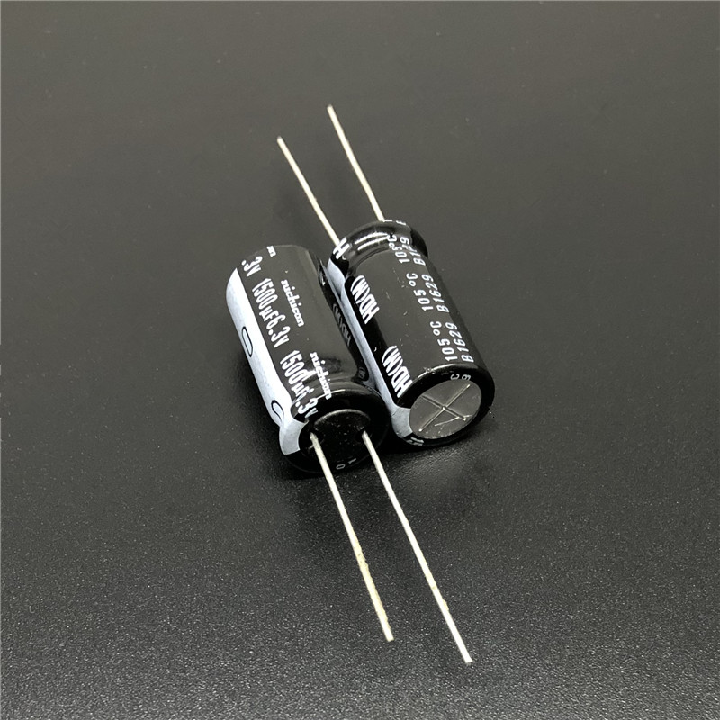 10pcs 1500uF 6.3V NICHICON HD Series 10x20mm Extremely Low Impedance 6.3V1500uF Aluminum Electrolytic Capacitor
