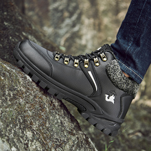 Winter Thermal Snow Boots Men Outdoor Waterproof Hiking Boots Mens High Quality Anti-Slippery Fur