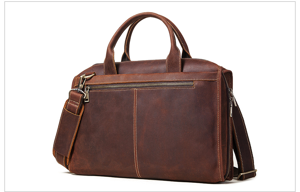Men Briefcase Bag Leather Comfortable Laptop Handbag 2021 7