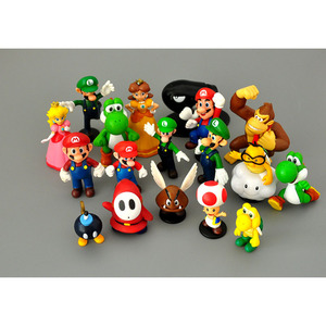 18pcs/lot Super Mario Bros PVC Action Figures Toys Yoshi Peach Princess Luigi Shy Guy Odyssey Donkey Kong Model Cartoon Dolls