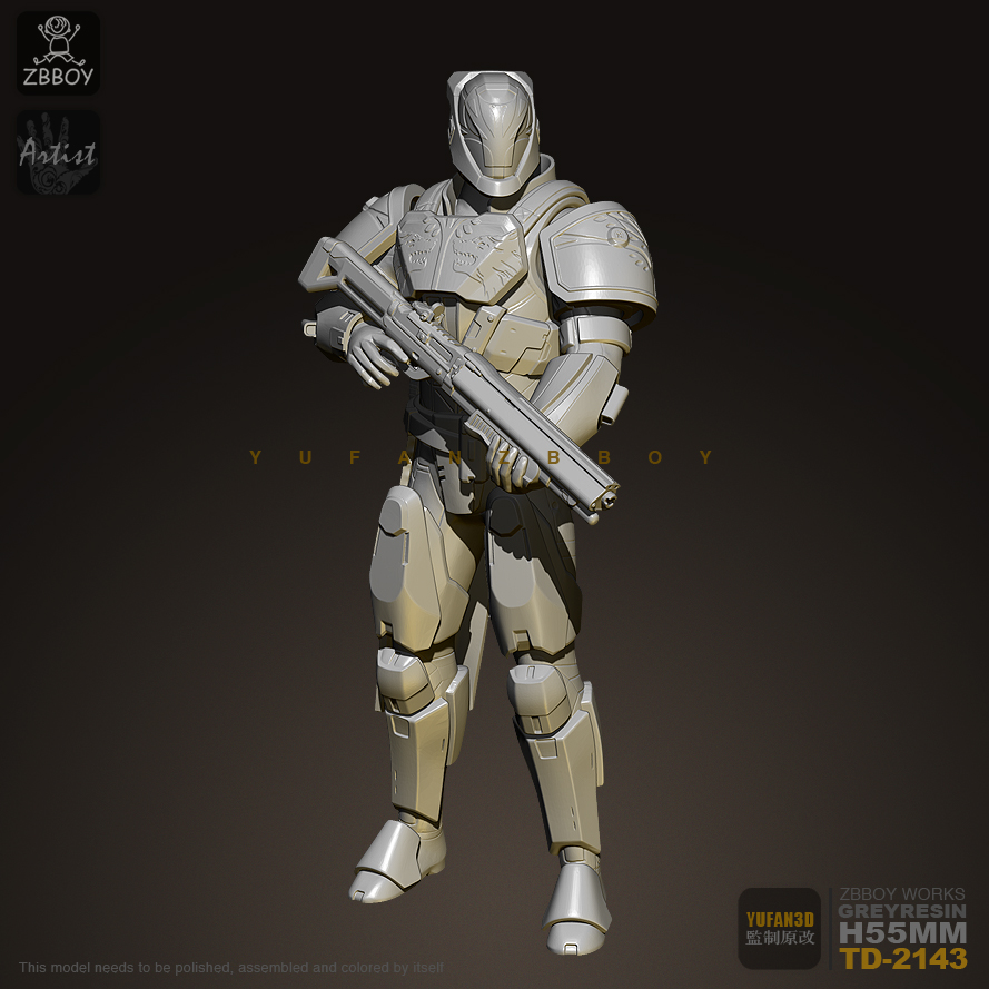 75MM Resin Figure Future Soldier Resin Soldier Model TD-2143