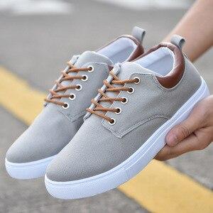 Image 1 - Nouveauté printemps été confortable chaussures décontractées hommes chaussures en toile pour hommes marque de mode mocassins plats chaussures