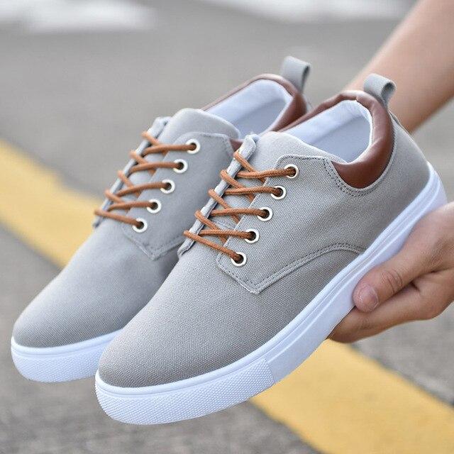 Nouveauté printemps été confortable chaussures décontractées hommes chaussures en toile pour hommes marque de mode mocassins plats chaussures