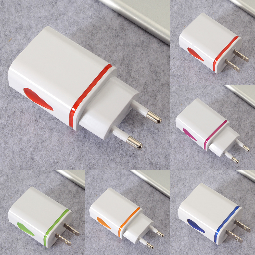 European US Plug AdapterAmerican Universal UK US To EU AC 2.1A Travel Power Adapters Converter Electrical Charger Plug
