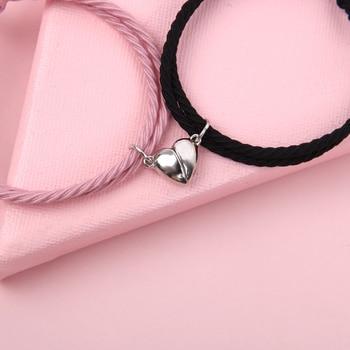Eternal promise magnetic couple bracelet
