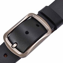Men Leather Needle Buckle Belt Cowhide Business Belt Casual Fashion Pure Color Youth Belt Crossover C4001 lin ting han belt men s leather youth pants with men s automatic buckle leather korean casual business belt men s tide new