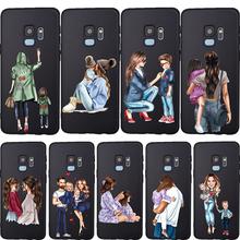 Etui na telefon moda dla dzieci mama dziewczyna Super mama tata do Samsung Galaxy S10 przypadku S8 S6 S7 S9 J2 J3 j5 J7 J4 J6 J8 2018 Plus Etui pokrywa tanie tanio viyisi Aneks Skrzynki Soft Silicone TPU case Odporna na brud GALAXY J SERIES Galaxy S7 Galaxy S7 Krawędzi Galaxy S8 Galaxy S8 Plus