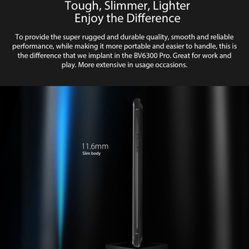 BLACKVIEW BV6300 Pro Helio P70 6GB+128GB Smartphone 4380mAh Android 10 Mobile Phone Quad Camere NFC IP68 Waterproof Rugged Phone 5