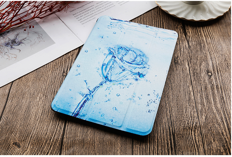 Painted 2020 Stand iPad QIJUN leather Cover inch For 8th Gen 10.2 iPad PU For Case Flip