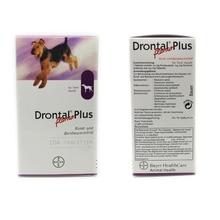 Drontal Plus For Dogs 8/32/104 Tablets (Tapeworm Dewormer for Dogs) Pet Supplies Authentic
