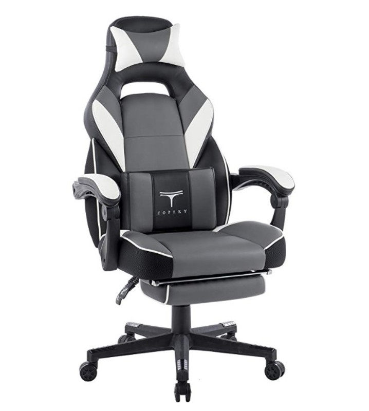 High Back Racing Style PU Leather Executive Computer Gaming Office Chair Long Sessions Team Gaming