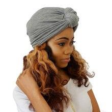 Chapeau Turban extensible pour femmes, Style bohémien, nœud enroulé, Turban africain torsadé, accessoires pour cheveux, chapeau indien, casquette chimio